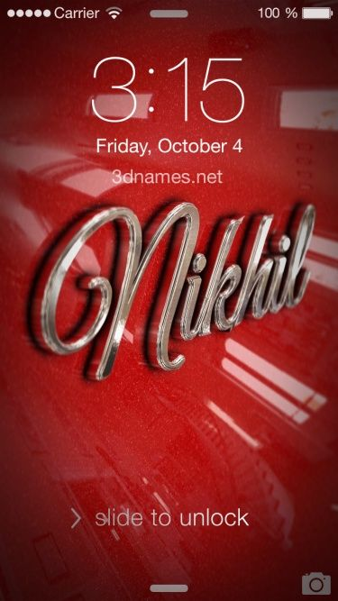 Preview Of Car Paint For Name Nikhil Name Wallpaper Motivational Wallpapers Hd Motivational Wallpaper