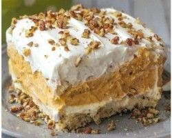 A Deliciously Layered Pumpkin Dessert