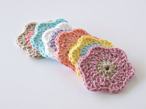Crochet Face Scrubbies Facial Cleansing Pads by GwensHomemadeGifts, $7.50