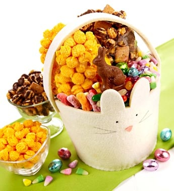 42 best spring easter images on pinterest gourmet popcorn felt easter bunny basket gourmet popcorneaster bunnygift basketsbunnies negle Gallery