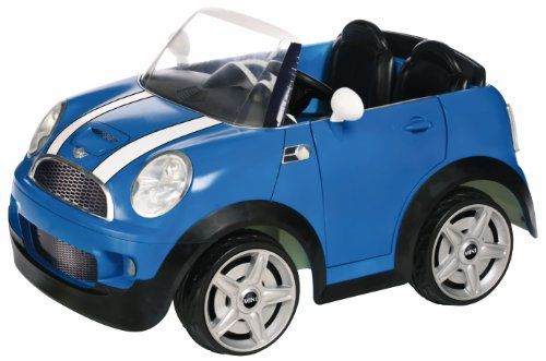 kid trax mini cooper 12volt ride on car blue to me this car toys look very cute if you own a real mini cooper then this toys might just be the r