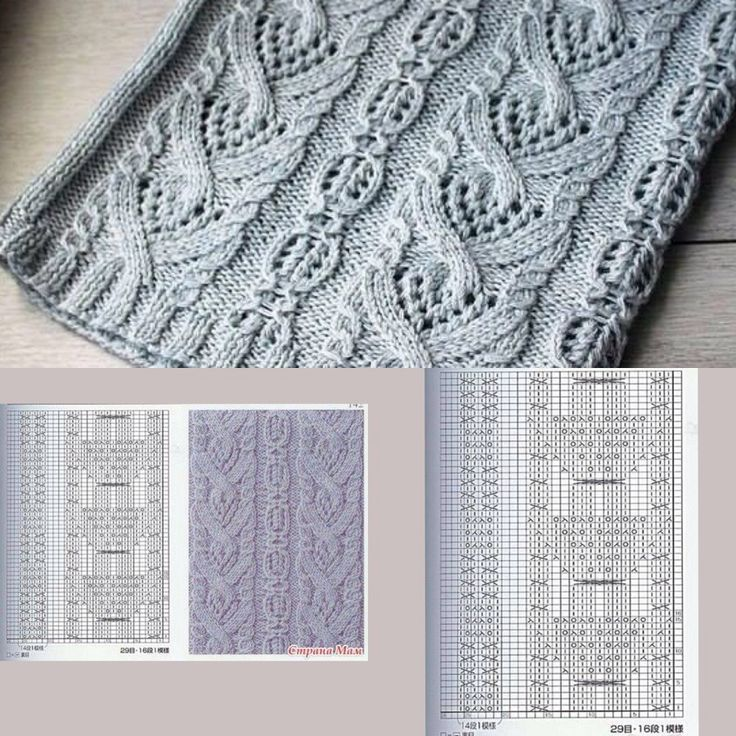 Cable Lace Knitting Stitches : 17 Best images about Tricot-Stitches and Charts on Pinterest Cable, Knit pa...