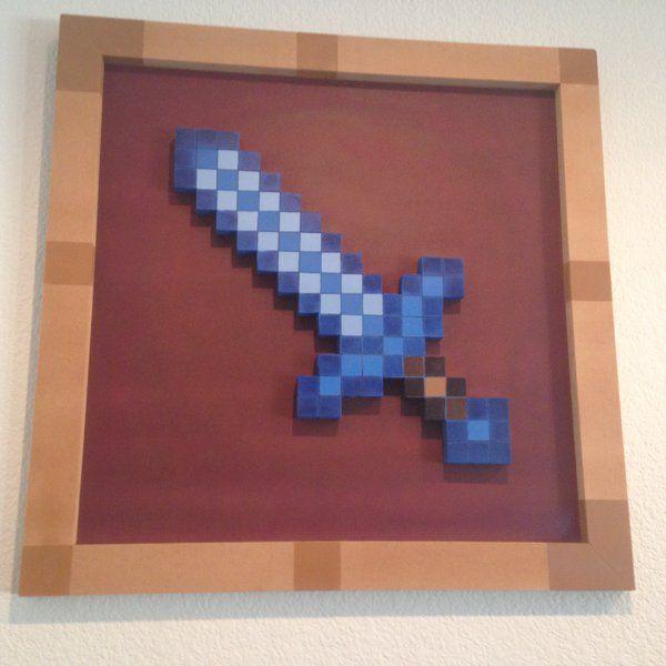 Minecraft Sword in Item Frame by vitro137 on DeviantArt