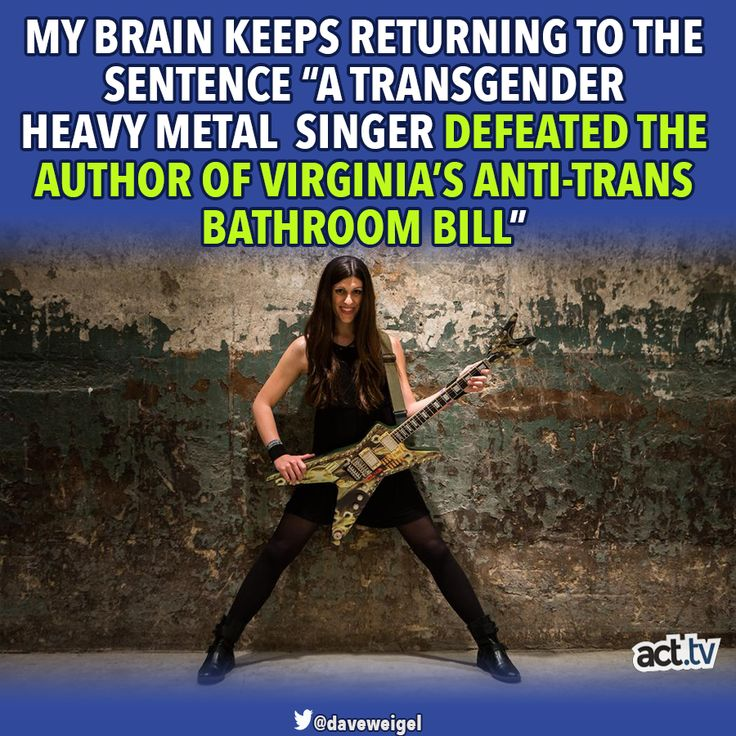 Ain't Karma Grand? AND I didn't know she was a heavy metal singer!
