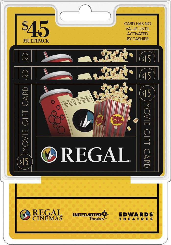 Regal Entertainment Group - $15 Gift Cards (3-Pack) - Multi, REGAL MP $45 (3X$15)