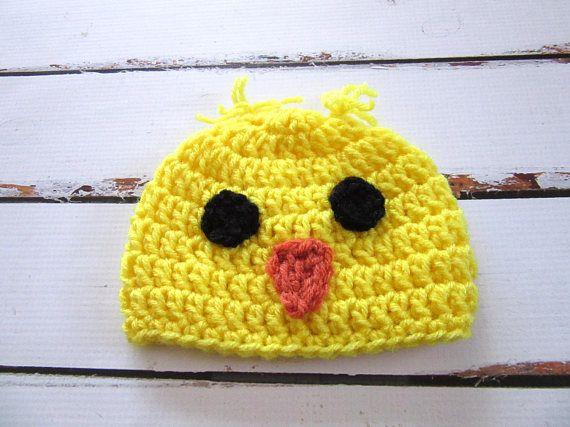 ♥ ♥ Si este sombrero es de Pascua, llega a usted en el tiempo. Por favor añadir Nota al vendedor para comprobar hacia fuera indicando es para Pascua :) Me encanta este sombrero de pollo del bebé! ¿No es lo más lindo alguna vez? Sombrero del bebé fue hecha usando el hilado acrílico en