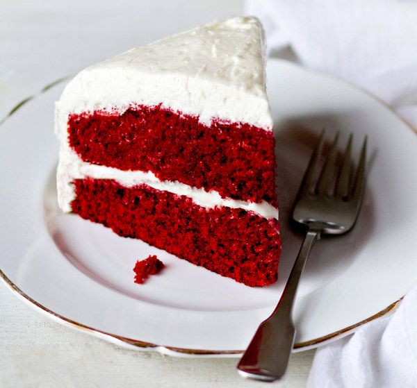 This is similar to the original recipe that began the red velvet craze. It was developed by the Adams Extract company in Gonzales, Tex. The original recipe, popularized in the 1940s, called for butter flavoring and shortening and is usually iced with boiled milk, or ermine, frosting. (Photo: Rikki Snyder for The New York Times)