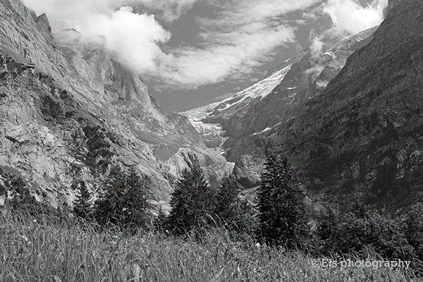 Upper Grindelwald glacier, Switzerland is taking away by global warming.
