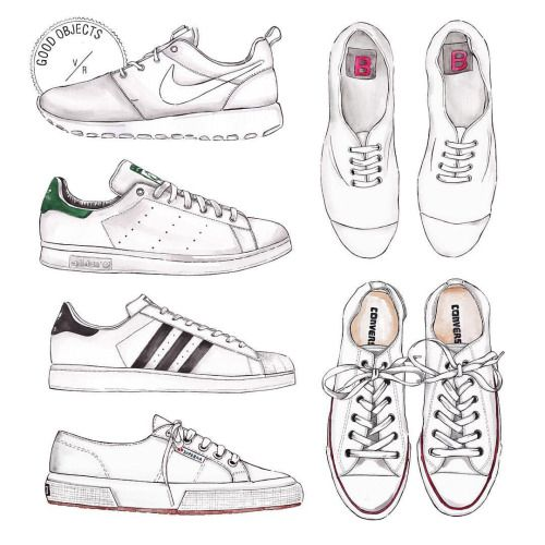 Good objects - #damndaniel ! Back at it again with the white kicks variations…  #goodobjects #illustration