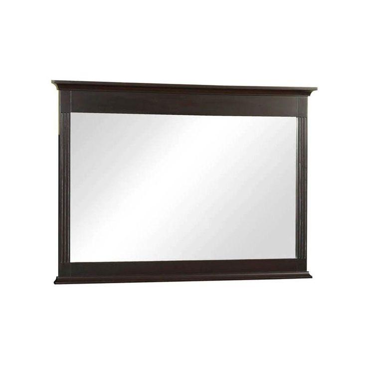 W Framed Wall Mirror In Espresso H0830M