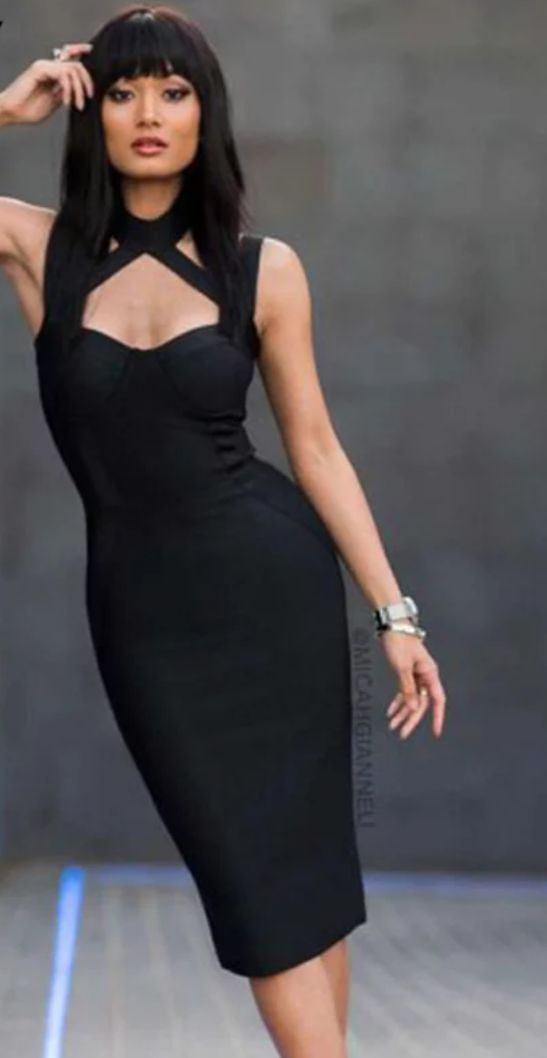 9d1eee62482 Sexy Black Bodycon Dress
