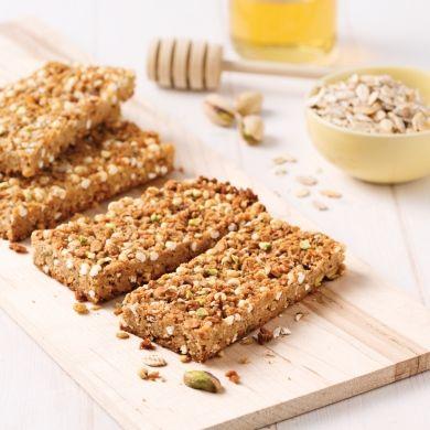 Barres croustillantes avoine et miel - Recettes - Cuisine et nutrition - Pratico Pratique