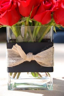 Courtney!!! This would make a beautiful, simple centerpiece for your wedding! :)