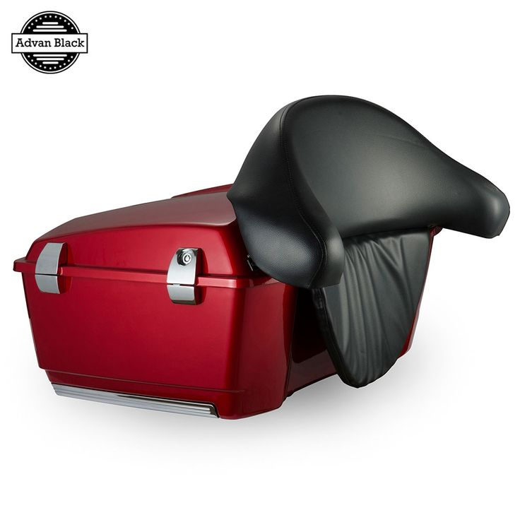 664.05$  Buy here  - AdvanBlack Ember Red Sunglo King Tour Pack Pak Backrest  For Harley Touring Street Electra Road Glide Road King 1993-2013 #harleydavidsonstreetglidered