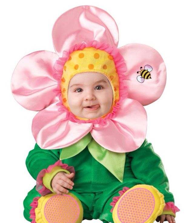 Baby kostuum Bloem