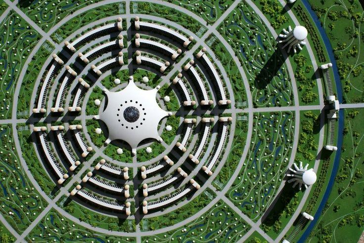 Desenho urbano em forma de mandala proposto pelo The Venus Project. Veja como alguns arquitetos idealizam as cidades do futuro!http://www.blogdaarquitetura.com. -- Aproveite para me seguir também no perfil @eduardocavalcanti.