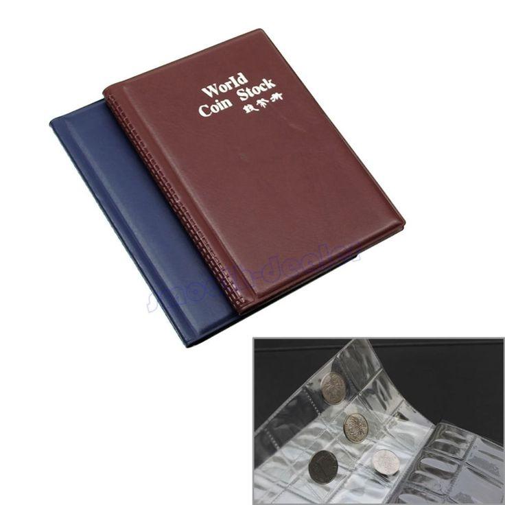 cor aleatoriamente 120 detentores da moeda armazenamento coleção dinheiro centavo bolsos recolher livro álbum 3.58