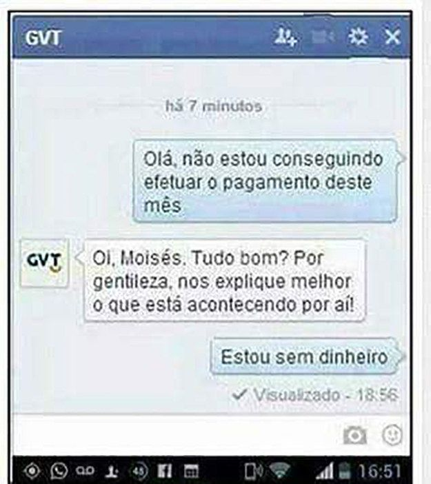 Este cliente. | As 20 pessoas mais sinceras do Brasil