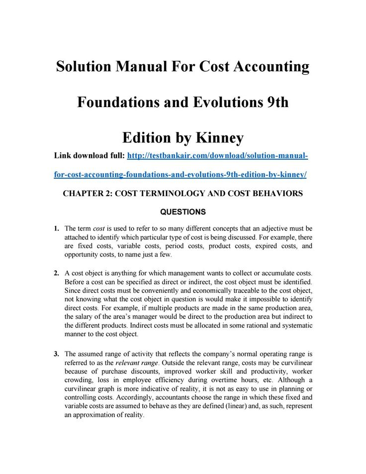 99 best solutions manual images on pinterest textbook manual and solution manual for cost accounting foundations and evolutions 9th edition by kinney fandeluxe Image collections