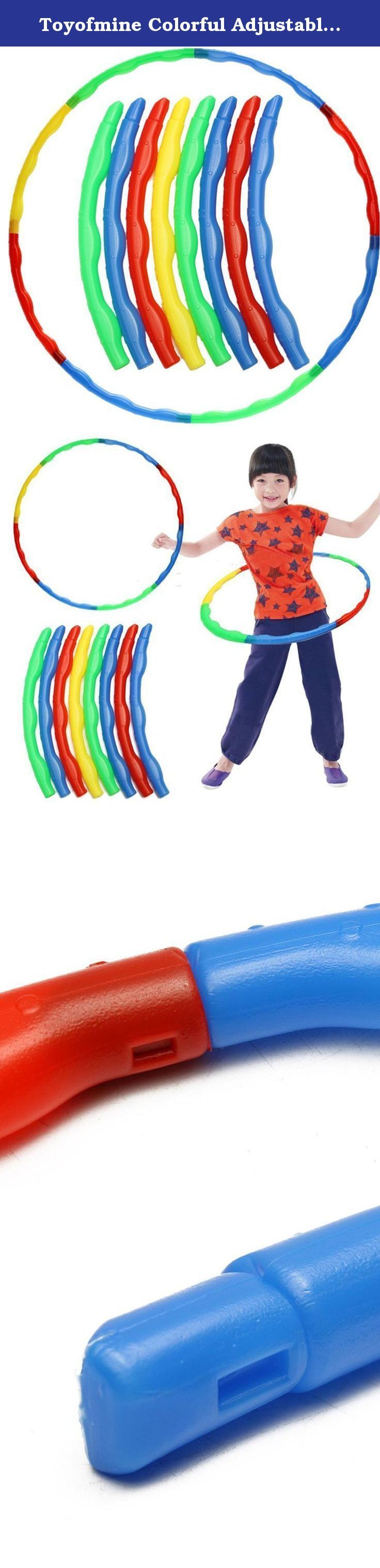 "Toyofmine Colorful Adjustable Hula Hoop Child Kids Portable Yoga Fitness Slot Sports Toys. ""Features: External Diameter: App 66 cm Inner Diameter: App 63.5 cm Suitable for :About ages 3 & up How to use : Made up of 8 colorful sections, each curved piece of this hoop slots together to form a full circle that's perfect for hula hooping. If the full circle is a little too big for smaller hoopers, remove a section or two to make a smaller hoop just for them. The ability to break down the…"