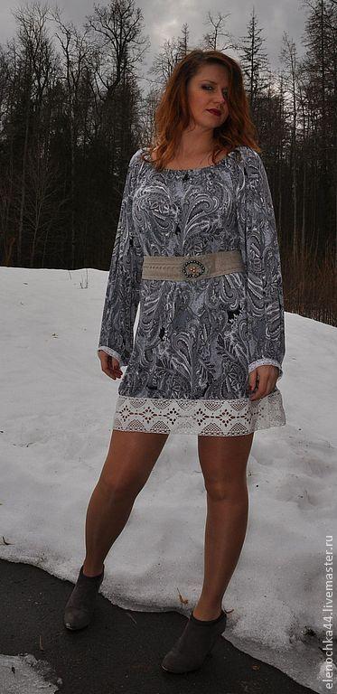 """Купить Короткое платье """"Первоцвет"""" - цветочный, пейсли, платье, короткое платье, реглан, прямое платье"""