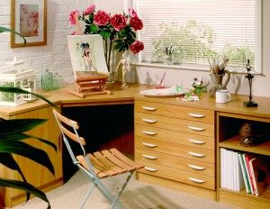 a variety of modular home office furniture units in the uk