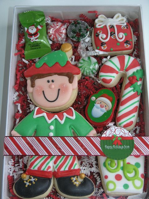 Little Elf segmented Cookie Set -by East Coast Cookies...these cookies sets are so great