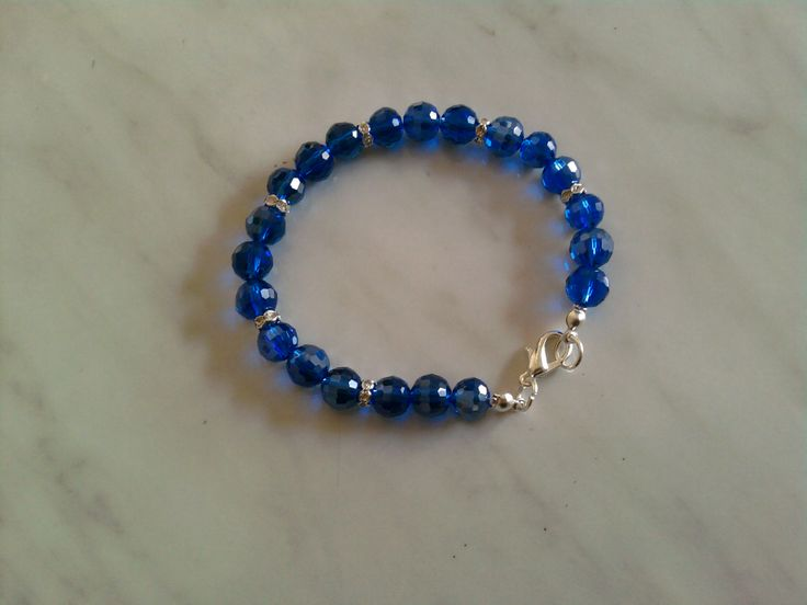 Bracciali : Bracciale con cristalli blu cobalto