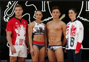 Photo credit: Dailymail.co.uk  Stylish 2016 Olympic Uniforms from around the world - Great Britain