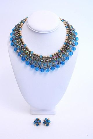 Vintage 1960/1961 DIOR Necklace Earring Set at Rice and Beans Vintage