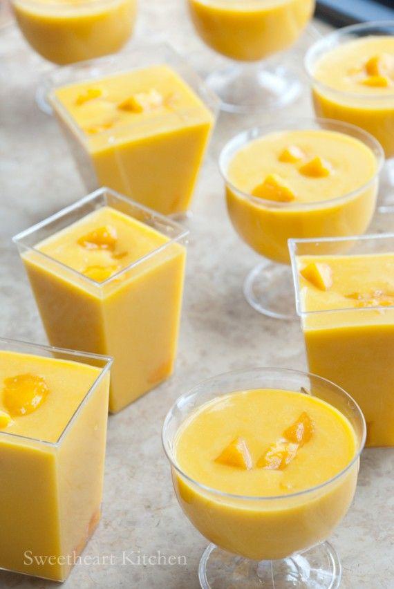 食譜 芒果布甸 Mango Pudding Recipe