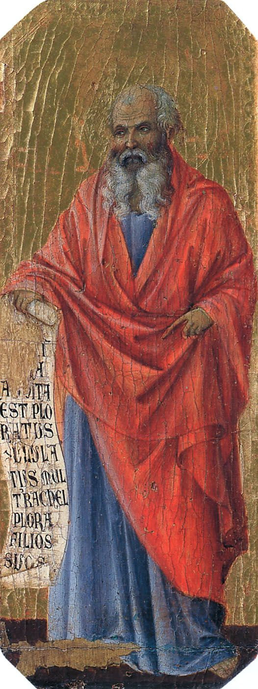 "Jeremiah meaning ""Yah Exalts"", also called the ""Weeping prophet"" was one of the major prophets of the Hebrew Bible. Jeremiah is traditionally credited with authoring the Book of Jeremiah, 1 Kings, 2 Kings the Book of Lamentations, with the assistance of Baruch ben Neriah, his scribe disciple. During the reign of Zedekiah, The Lord instructed Jeremiah to make a yoke of HIS message that the nation would be subject to the king of Babylon listening to the false prophets would bring disaster."