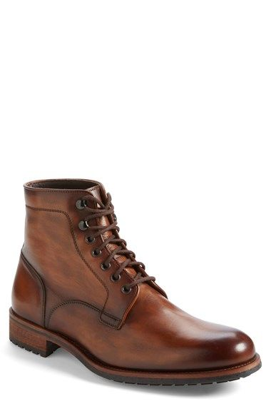 Free shipping and returns on Magnanni 'Marcelo' Plain Toe Boot (Men) at Nordstrom.com. Richly burnished leather lends vintage charm to a bold and rugged boot featuring a tough lug sole that resists oil, grease and abrasion..