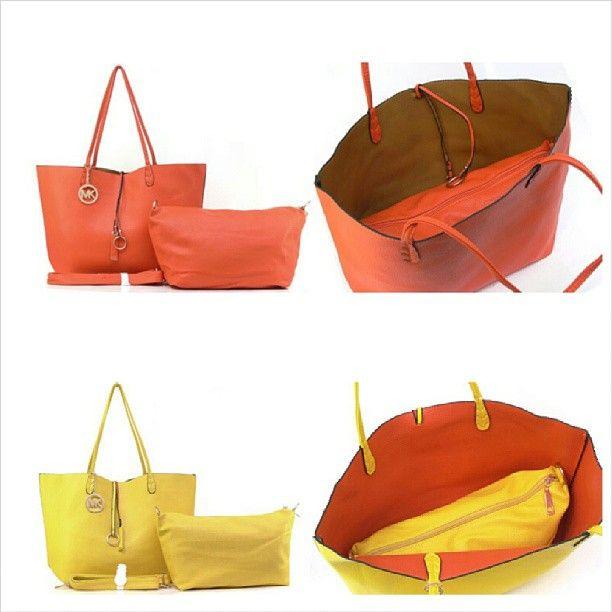 Michael Kors Tote Bolak Balik (Bag in Bag). READY on : Yellow Orange, Orange Camel, Pink Cream, Red Cream, Blue Elektrik Purple. (L45 x T30) Rp. 325.000 #bag #woman #michaelkors #branded #import #quality #recommended #fashion #favorite #fashionstuff #tascewek #tas #murah #jualan #jual #iklan #iklan_instagram #iklanpromosi #promosibarang #promosi_id - @toserba_fashion- #webstagram