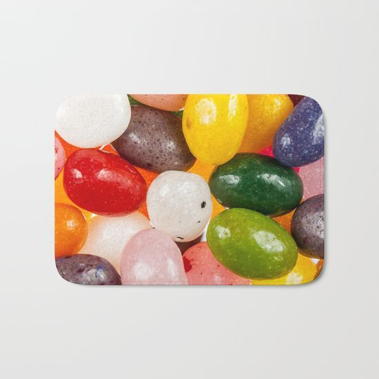 Eye candy! Cool colorful sweet Jelly Beans bath mat by #PLdesign #candy #JellyBeans #ColourfulCandy