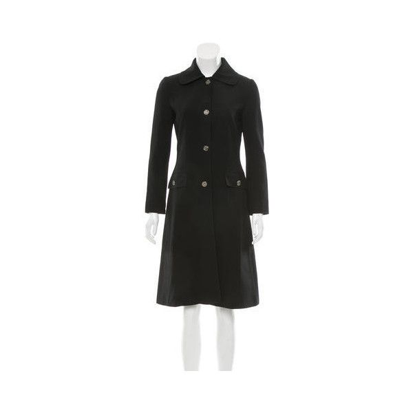 Pre-owned Dolce & Gabbana Wool Knee-Length Coat (257.190 CLP) ❤ liked on Polyvore featuring outerwear, coats, woolen coat, knee length wool coat, wool coat, dolce gabbana coat and knee length coat