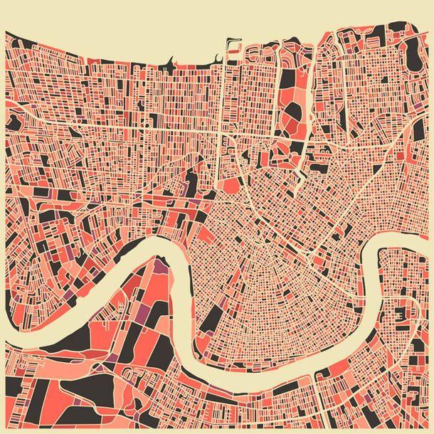 Abstract Cities – Les cartes stylisées des grandes villes (image)