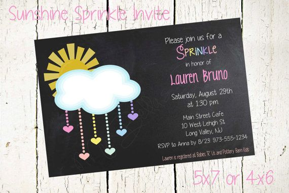 Sunshine Sprinkle Invite Sprinkle Invitation by JujuandBeanPrints