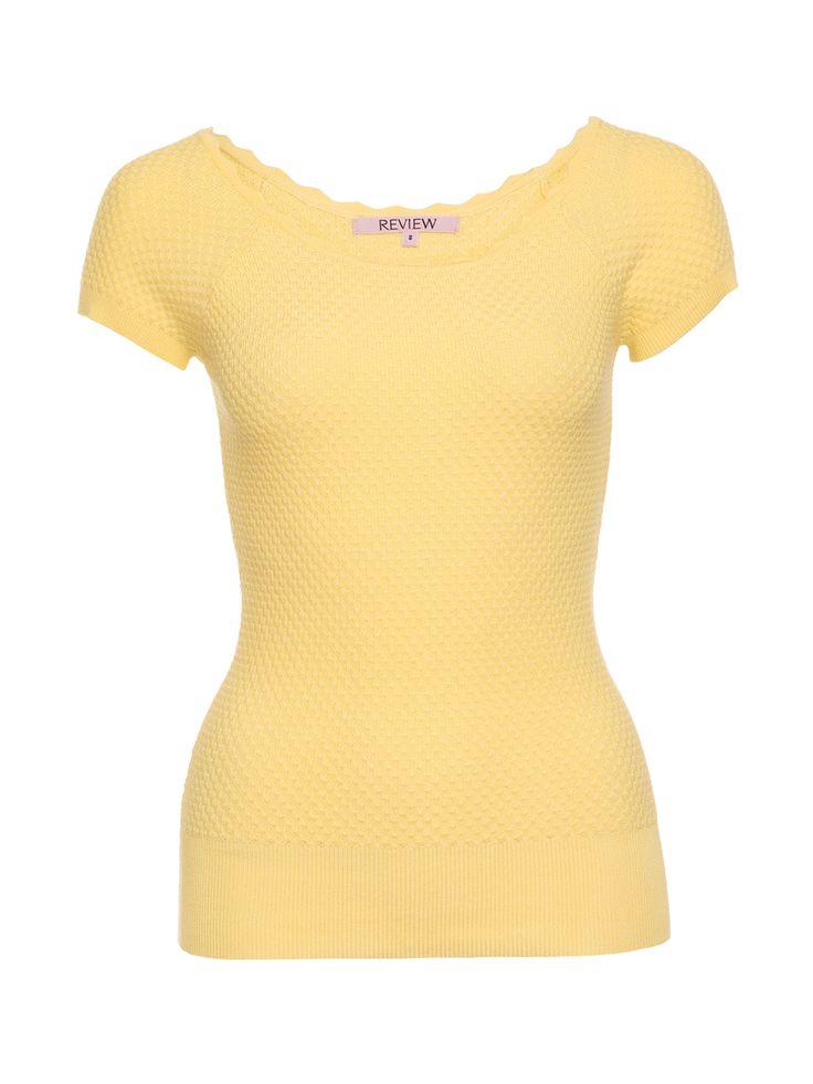Hazy Days Knit Top   Yellow   Top