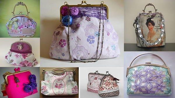 Cómo sacar patrones para hacer monederos y bolsos con boquillas metálicas