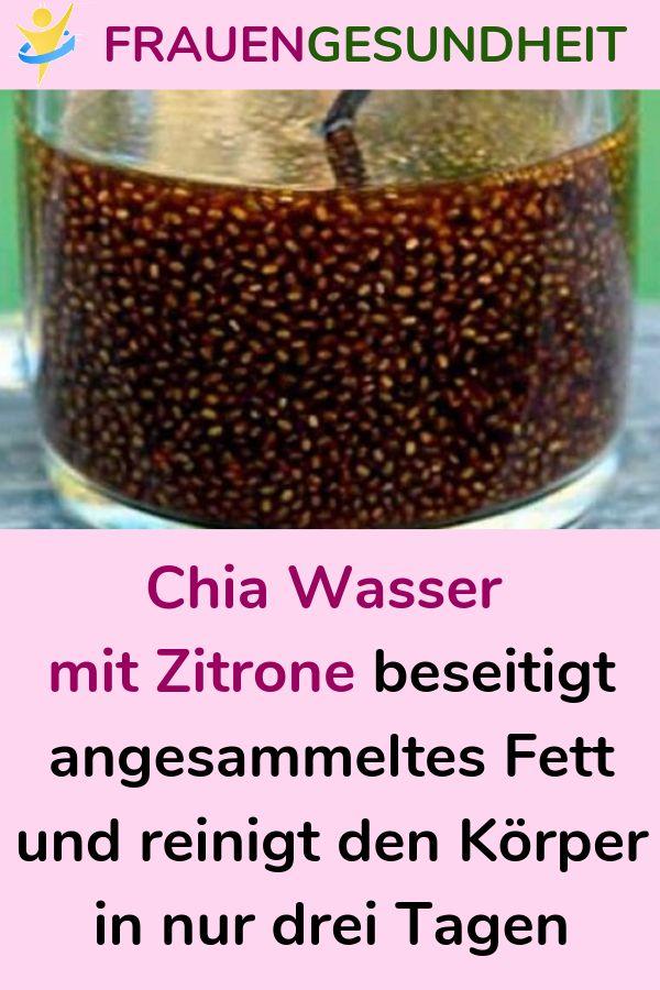 Chia Wasser mit Zitrone beseitigt angesammeltes Fett und reinigt den Körper in nur drei Tagen
