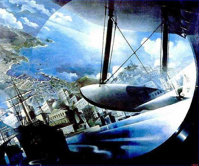 Tullio Crali, Landing on the Gulf, 1939