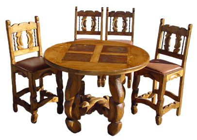 slate dining table | ... For Less - Authentic, Rustic & Southwest Furniture - Dining Tables