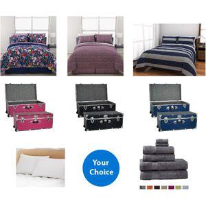 Dorm In A Box Value Bundle Bedding Set Wheeled Storage