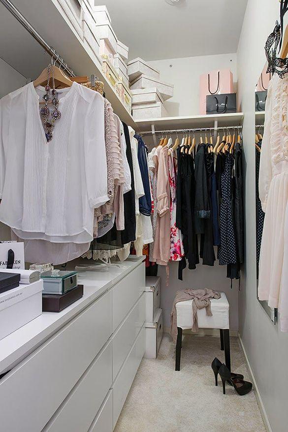Un vestidor LOW COST con una cómoda MALM   Decoración