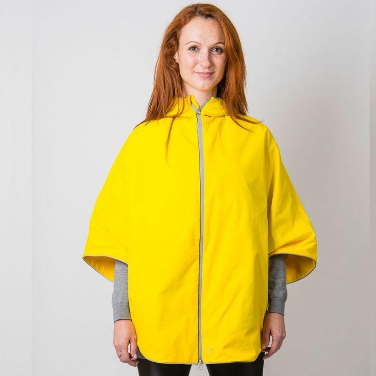 Otto London Cycling Poncho - Yellow | Cyclechic | Cyclechic