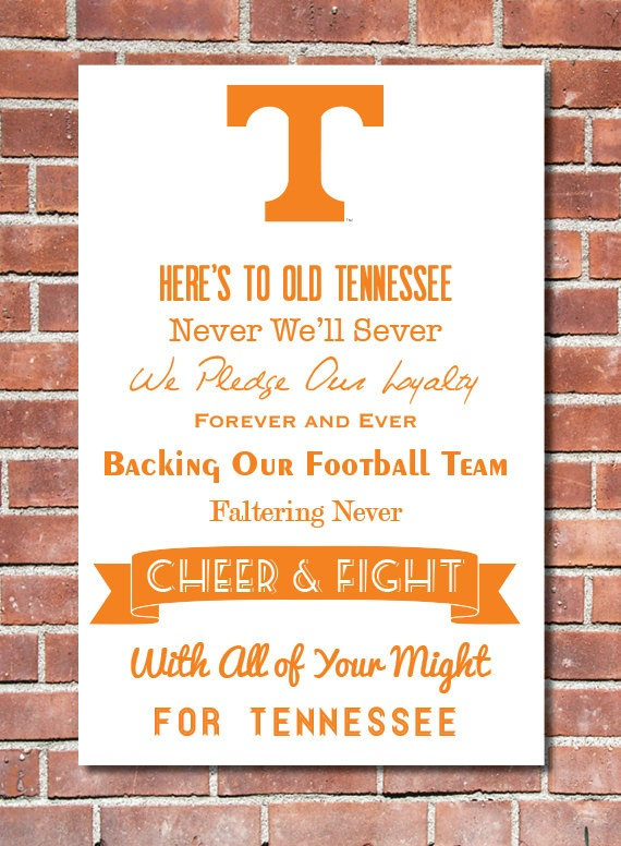 12 x 16 University of Tennessee Fight Song Poster by Design1985, $15.00