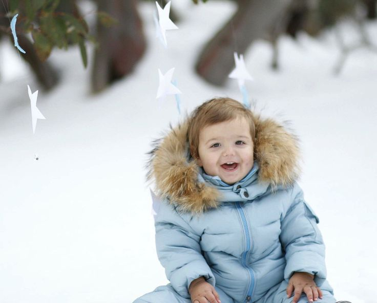Snow baby photography