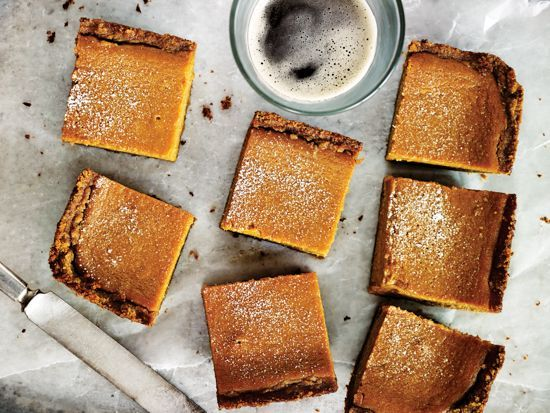 RECIPE: Brown Ale Pumpkin Pie Bars | DRAFTmag.com  A caramelly brown ale intensifies pumpkin and spice, though a big-ol' barrel-aged version will play up the cinnamon and brown sugar!