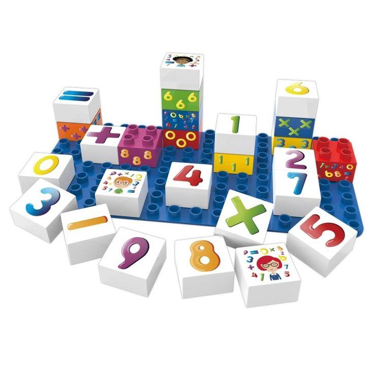 BioDuplo 26-pack Learning numbers med byggplatta, Siffror - BiOBUDDI - Ekologiskt & Tryggt - GoodforKids